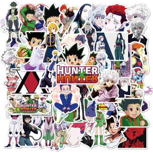 (50pcs) Anime Hunter x Hunter Vinyl Stickers for Skateboard/Laptop/Book/Luggage
