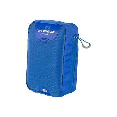 (Lifeventure MicroFibre Lightweight Travel Outdoor Trek Towel - Large - Blue)