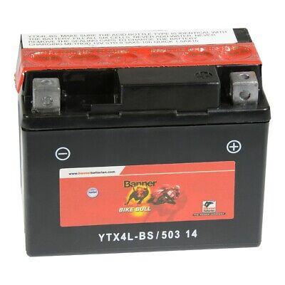 Banner Bike Bull Motorrad Batterie AGM 12V 3Ah 50314 YTX4L-BS