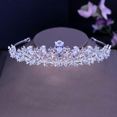 Tiara Cristal Perlas Diadema Estrás Novia Boda Corona Novia Cabello Princesa