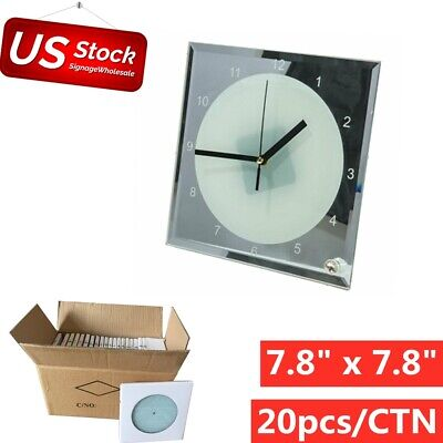 20pcslot 7.8 X 7.8 Sublimation Blank Glass Photo Frame With Clock Us Stock