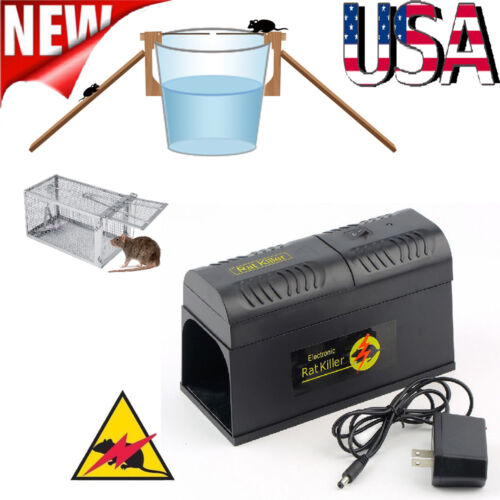Electronic Mouse Trap Control Rat Killer Pest Electric Zappe