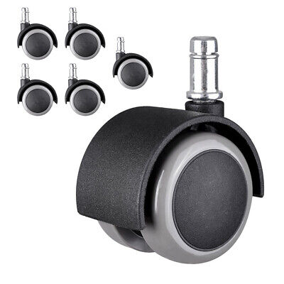5 Set Office Chair Caster Wheels Replacement Swivel 2 Casters Universal Fit