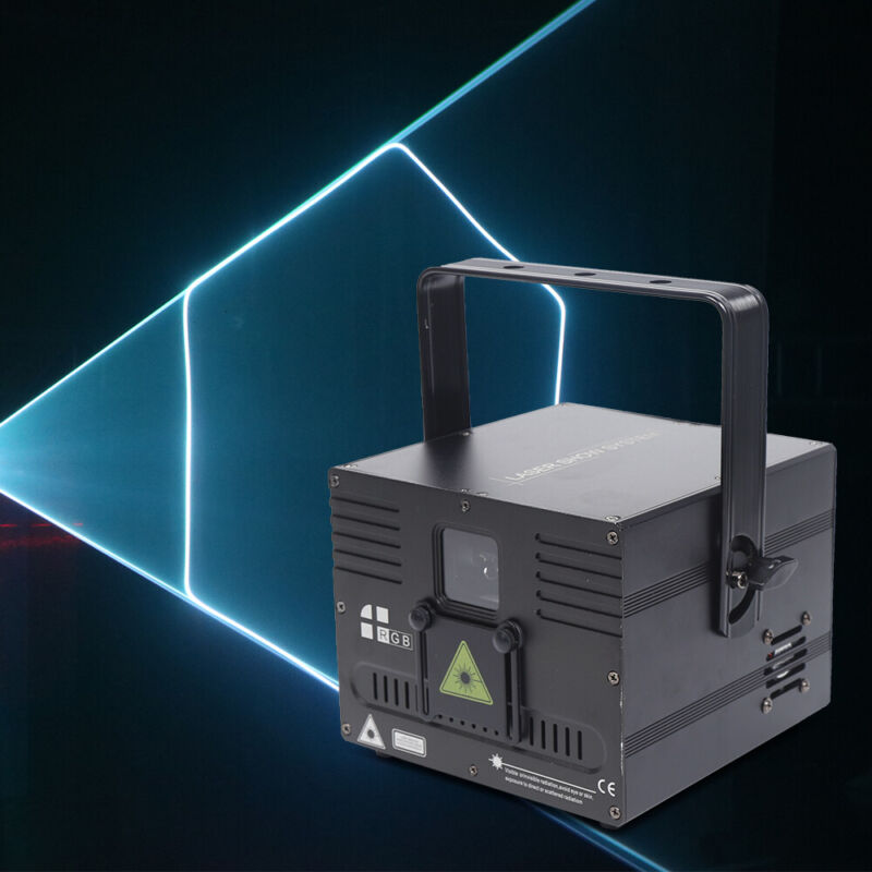 1W White beam Animation Laser Light DMX ILDA DJ Party Club Stage Lighting 1000mW