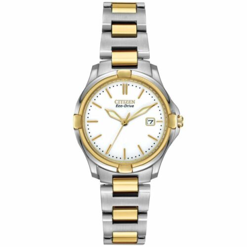 $79.95 - Citizen Eco-Drive Two Tone White Dial Women's Watch EW1964-58A