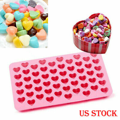 Heart Mould - Mini 55hole Heart Shape Silicone Mold For Candy Chocolate Cake Mould Baking DIY