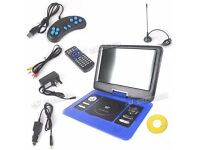13.3 Inch Blue Portable DVD Player VCD Game SD MP3 Fit For Holiday & Travel