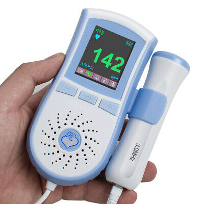 Usa Fetal Doppler 3mhz Probe Lcd Backlight Heart Beat Monitor Baby Ultrasonic