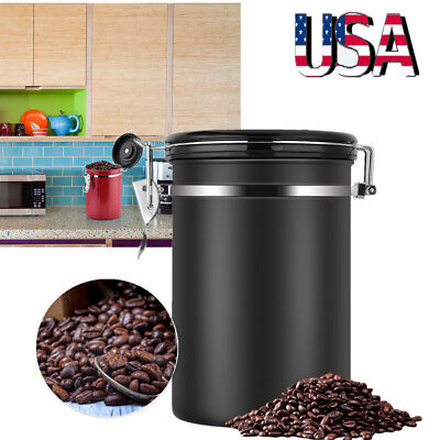 Coffee Canister Airtight Container Stainless Steel Food Savor Canister CO2 Valve