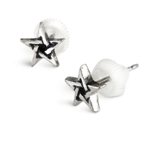 Goth Alchemy England Pentagram Stud Earrings Wiccan Pagan Jewelry E164
