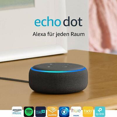 Amazon Echo Dot (3. Generation) intelligenter Lautsprecher mit Alexa Anthrazit - Dot
