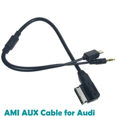 AMI MMI MDI MUSIC INTERFACE AUX ADAPTER CABLE 8PIN LIGHTING iPHONE 5 6 iPOD AUDI