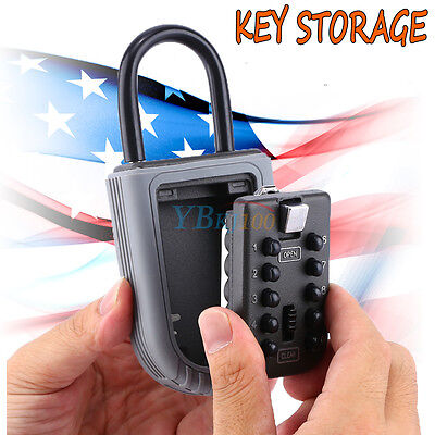 10 Digit Security Combination Hide Key Lock Padlock Storage Box Safe Outdoor New