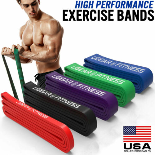 Heavy Duty Exercise Bands Latex Resistance Fitness GYM Powerlifting Assist Band