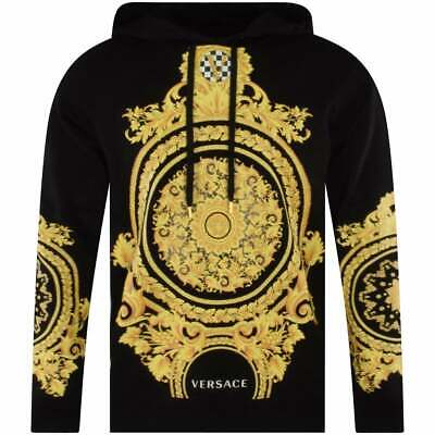 VERSACE  Black/Gold Print Hoodie UK M  SIZE AVALIABLE