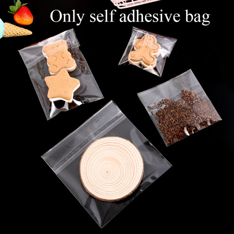 Candy Package Pastry Tool Cookie Bags Seal OPP Transparent Matte Self Adhesive