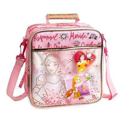 Disney Store Princesses School Lunch Tote Box Bag