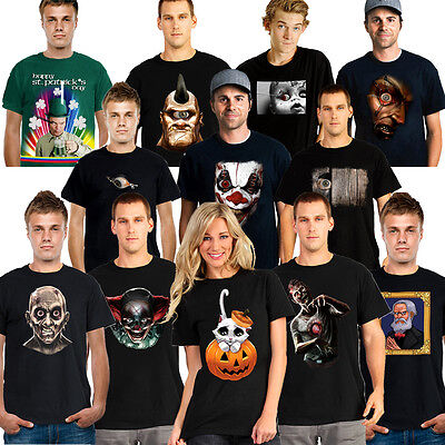 Scary Halloween Apps (Digital Dudz Mens Womens T Shirt Animated Mobile App Funny Scary Halloween)