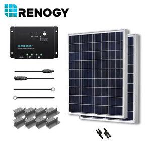 Renogy Solar Panel 200 Watt 2 100w 12v Pv Off Grid Kit Rv