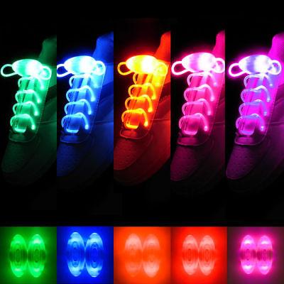 LED Shoelaces Shoe Laces Flash Light Up Glow Stick Strap Disco Dance Party Xmas