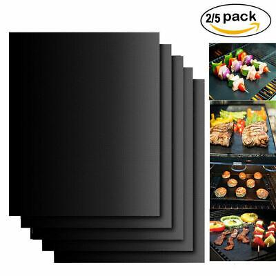 5 x BBQ Grill Mat Non-Stick Oven Liners Teflon Cooking Baking Reusable Sheet Pad