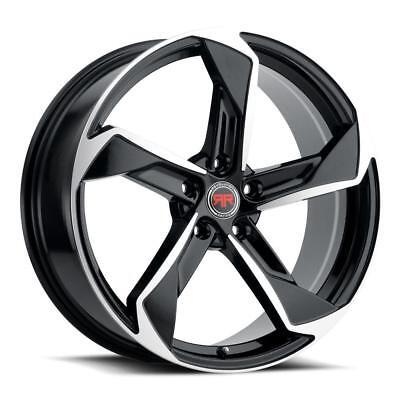 - 18 inch 18x8 Revolution Racing RR20 Black Machined wheel rim 5x4.5 5x114.3 +40