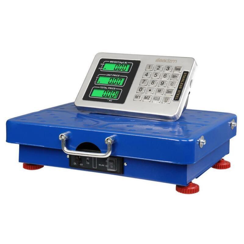 Wireless 440LB 200KG Digital Price Scale Floor Platform Shipping Postal Weigh