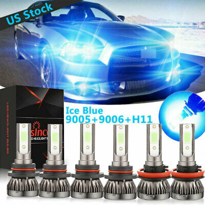 MINI Ice Blue 9005+9006+H11 LED Headlight Fog Light Bulb High/Low Beam 100W (Best H1 Led Bulb)