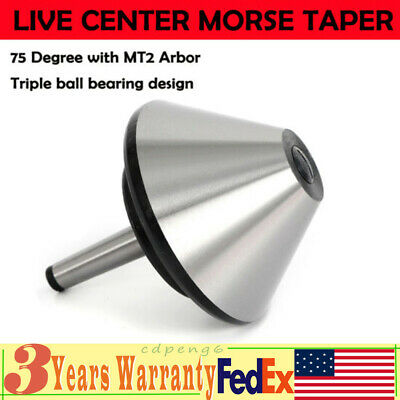 5 Mt2 Bull Nose Live Center Morse Taper 75 Degree W Mt2 Arbor For Lathe 120mm