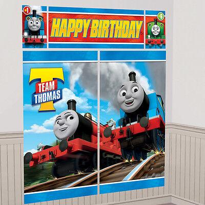 Thomas the Tank & Friends Trains Wall Decoration Kit Birthday Party Scene Setter - Thomas The Tank Birthday