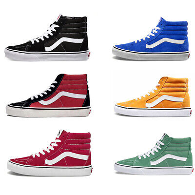 Vans SK8-Hi Men's Women's High Top Skate Shoes Casual Canvas Trainers 9 Colors