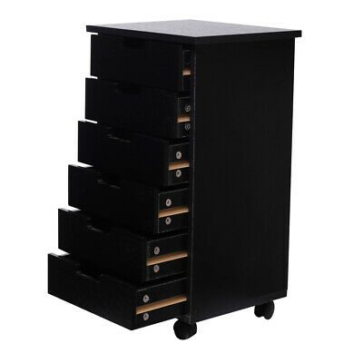 6-drawer Wood Filing Cabinet Mobile Storage Cabinet For Closet Office New155