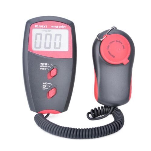 Digital Luxmeter Lux Meter Light Level Sensor Tester Photometer 0-100,000Lux