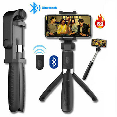 Extendable Selfie Stick Bluetooth Tripod Mount for iPhone 7 8 X XR XS Max Holder