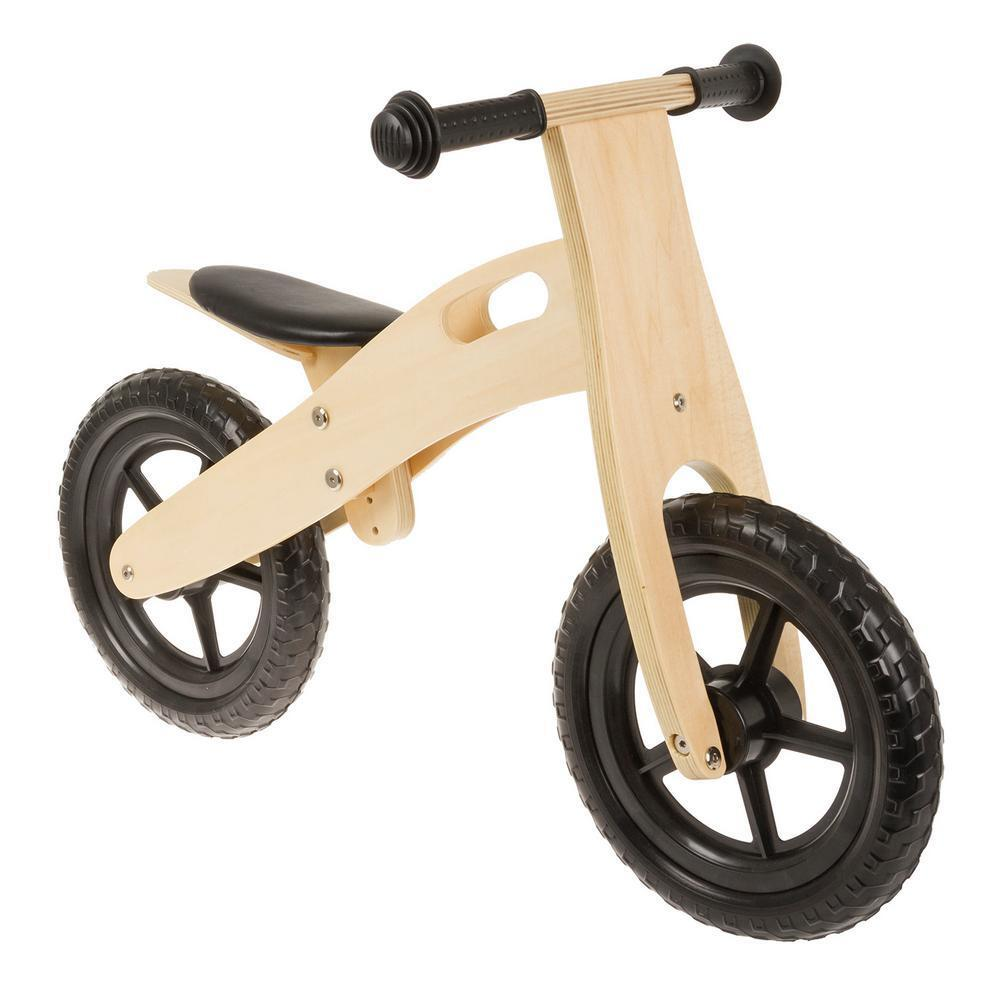 Anlen Wooden Balance Bike Toddlers Ultra-light Child Air Filled Tires  12 inch