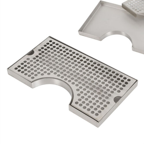 Stainless Steel Beer Kegerator Tower Faucet Drip Tray Surface Mount No Drainage  - $29.05