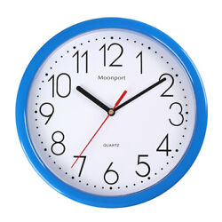 10 Inch Wall Clock,Silent Non-Ticking Quartz Battery Operated Round Easy to Read