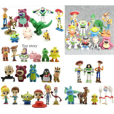 Toy Story Buzz Lightyear Woody Jessie Bulleye Figures Toys Gift Cake Topper Set