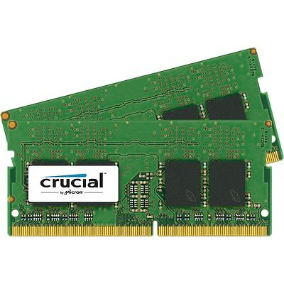 Crucial 16GB KIT 2 x 8GB DDR4 2400 MHz PC4-19200 SODIMM 260-Pin Laptop Memory
