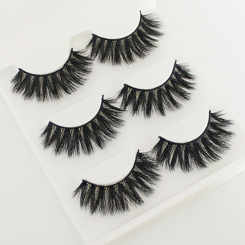 3D Handmade 100% Real Mink Luxurious Natural Thick Soft Lashes False Eyelashes Eyes