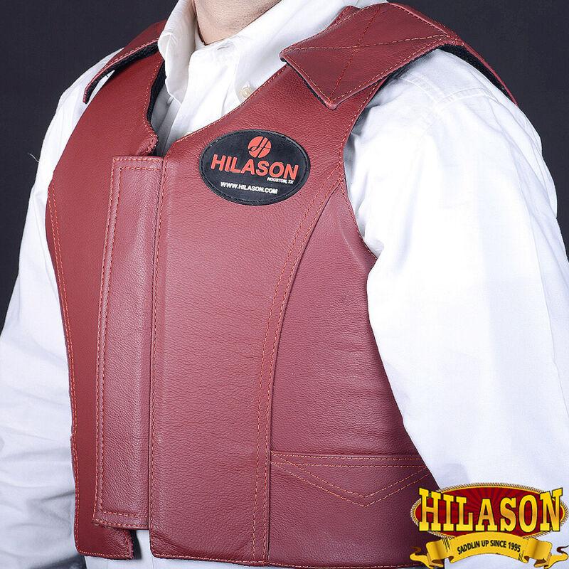 Equestrian Horse Riding Vest Safety Protective Hilason Leather U-V111