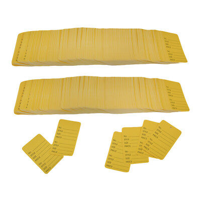 """1000 Pcs Large Yellow Merchandise Coupon Price Tag Perforated 1-3/4""""x 2-7/8"""""""