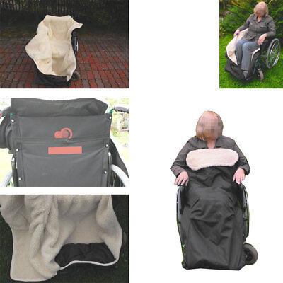 Rolstoelzak met natuurlijke lamswol rolstoel zak voetenzak antraciet 150x70 cm