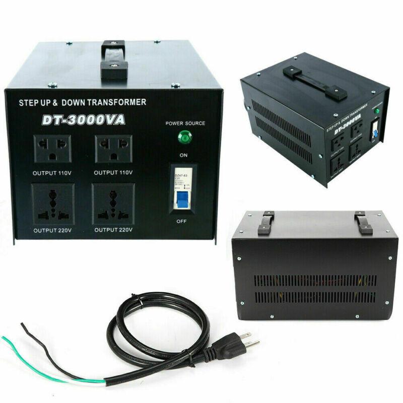 3000Watt Voltage Transformer Step Up/Step Down 110V⇋220V Heavy Duty Converter