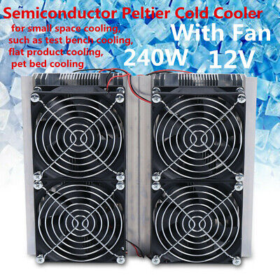 240w Electronic Semiconductor Refrigeration Peltier Cooler Plate 12v Us Ship