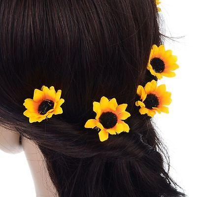 Sunflower Decor Bridal Daisy Flower Party Clips Headband Hair Pins Headpiece ()