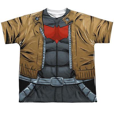 Batman Red Hood Halloween Costume (BATMAN RED HOOD UNIFORM COSTUME Kids Tee Shirt SM-XL Size 6-20 Halloween)