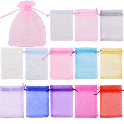 Jewellery - 25- 100 ORGANZA GIFT BAGS Large Small Wedding Party Favour Jewellery Candy Pouch
