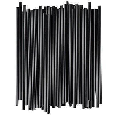 "1000 5"" Black Unwrapped Coffee Cocktail Beverage Drink Stirrers / Sip Straws"