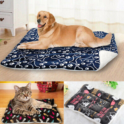 Large Soft Warm Dog Cat Pet Mat Bed Pad Self Heating Rug Thermal Washable Pillow